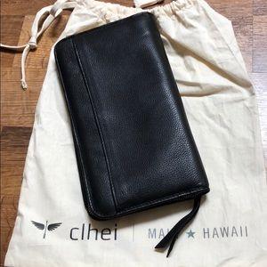 clhei Bags - Clhei black leather travel wallet